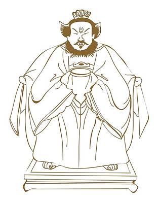Full-length Portrait Digital Art - Digital Illustration Of Ancient Chinese Philosopher Confucius by Dorling Kindersley