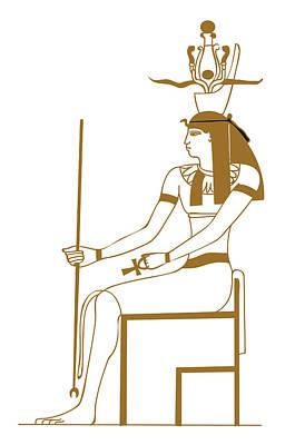 Ancient Civilization Digital Art - Digital Illustration Of Ancient Egyptian Earth God Geb by Dorling Kindersley