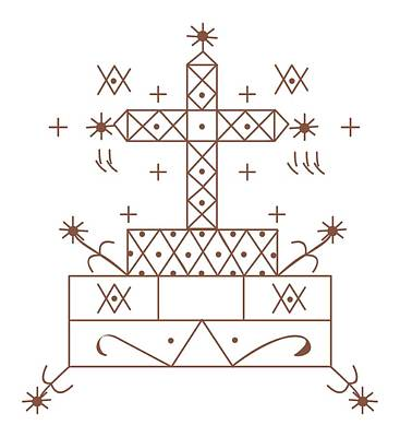 Voodoo Digital Art - Digital Illustration Of Baron Samedi Voodoo Veve by Dorling Kindersley