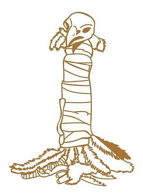 Wrap Digital Art - Digital Illustration Of Eagle Wrapped In North American Tribal Medicine Bundle by Dorling Kindersley