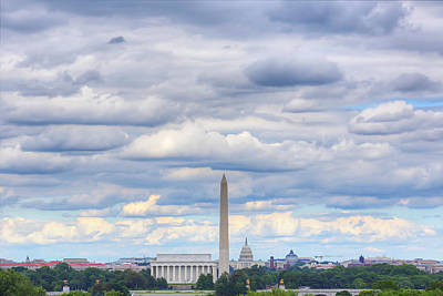 Digital Liquid - Clouds Over Washington Dc Art Print by Metro DC Photography