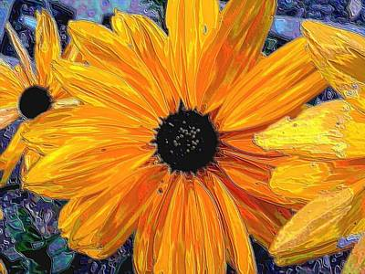Photograph - Digital Painting Black Eyed Susan by William OBrien