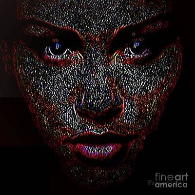 Limited Vision Digital Art - Digital Woman Inspired By A Real God by Fania Simon