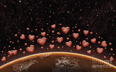 Constellation Digital Art - Digitally Generated Image Of Valentine by Vlad Gerasimov