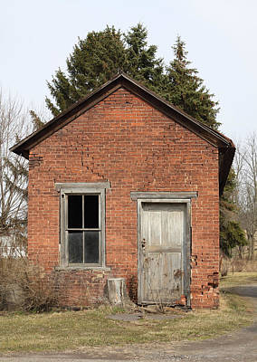 Photograph - Dilapidated Old Brick Building by John Stephens