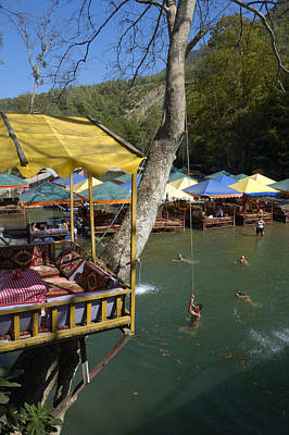 Photograph - Dim River Turkey - Bathing And Having Fun by Matthias Hauser