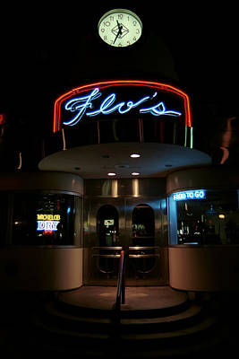 Photograph - Diner At Night by Andrew Fare