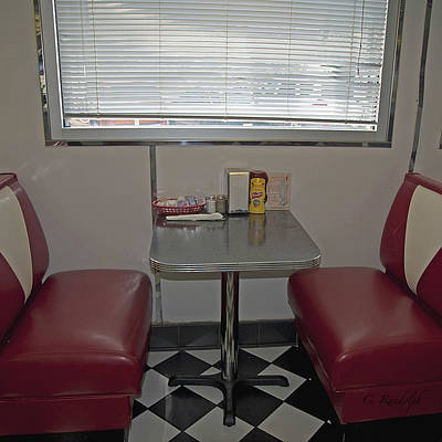 Photograph - Diner Booth by Cheri Randolph