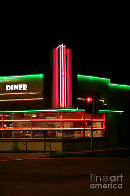 Mixed Media - Diner Lights by Jerry L Barrett