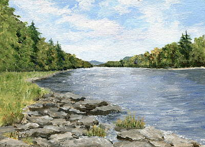 Painting - Dingman's Ferry by Margie Perry
