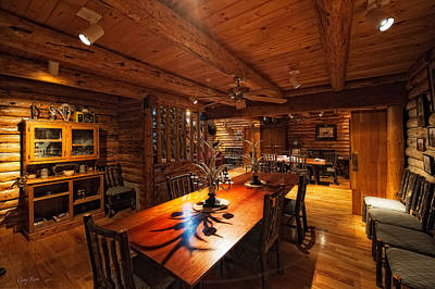Photograph - Dining Area - Private Lodge by Gary Rose