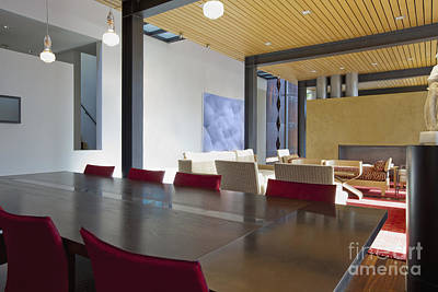 Upscale Photograph - Dining Room In An Upscale Home by Inti St. Clair