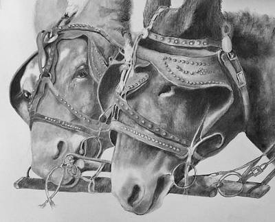 Drawing - Dink And Donk by Mary Scott
