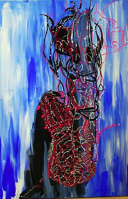 Painting - Dinka Dance - South Sudan by Gloria Ssali