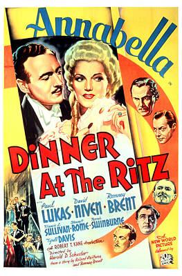 Postv Photograph - Dinner At The Ritz, David Niven by Everett