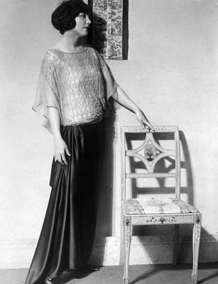 Fluttering Photograph - Dinner Gown With Black Skirt by Everett