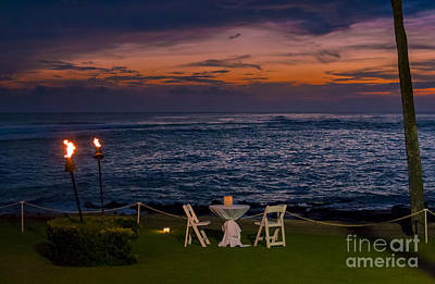 Dinner Setting In Paradise Art Print by Darcy Michaelchuk