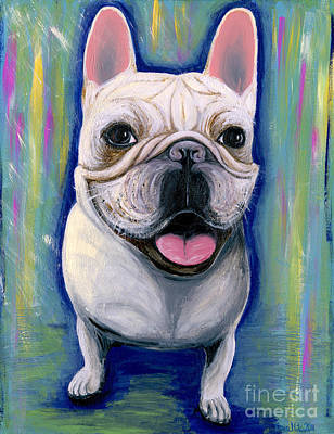 Ania Painting - Dino The French Bulldog by Ania M Milo