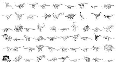 Dinosaur Collection Art Print by Karl Addison