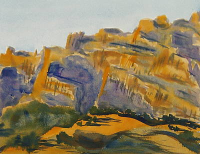 Painting - Dinosaur Evening Light Dinosaur National Monument Utah Colorado by Zanobia Shalks