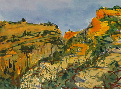 Painting - Dinosaur National Monument Canyon Utah by Zanobia Shalks