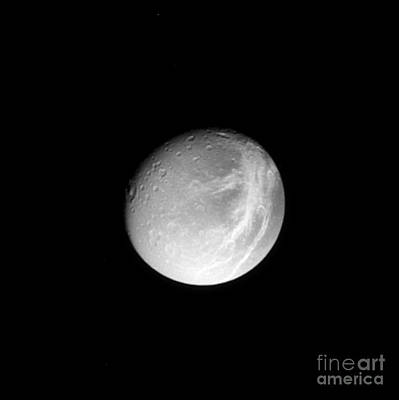 Photograph - Dione by NASA / Science Source