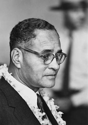 Diplomat Dr. Ralph Bunche At The 1963 Art Print by Everett