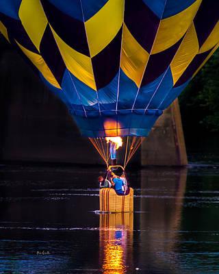 Dipping The Balloon Basket Art Print by Bob Orsillo