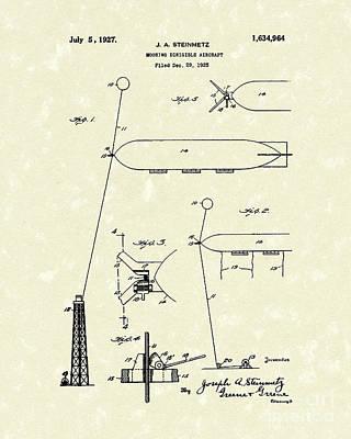 Dirigible 1927 Patent Art Art Print
