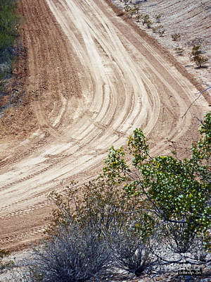 Photograph - Dirt Bike Tracks by Methune Hively