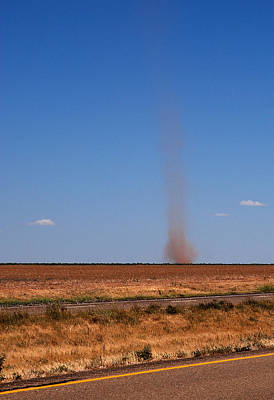 Photograph - Dirt Devil On The Texas Plains by Melany Sarafis