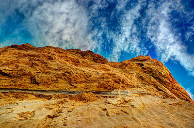 Dirt Mound And Sky Art Print by Mark Dodd