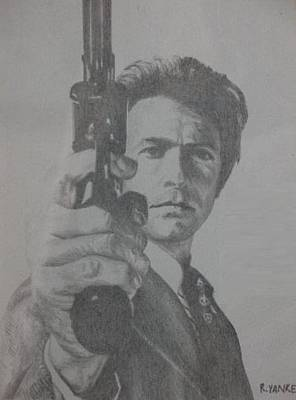 Dirty Harry Drawing - Dirty Harry by Rick Yanke