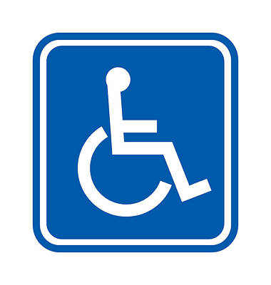 Disability Sign, Computer Artwork Art Print by