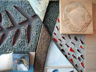 Ichtiology Relief - Discus - Penguin. Detail Of Composition. 1988 by Yuri Yudaev-Racei