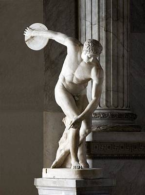 Discus Thrower Statue Art Print