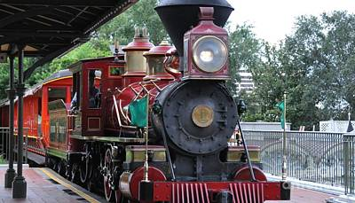 Photograph - Disney 4-6-0 Ten Wheeler Number 1 by John Black