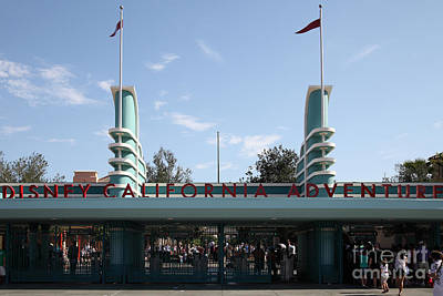 Disney California Adventure - Anaheim California - 5d17522 Art Print by Wingsdomain Art and Photography
