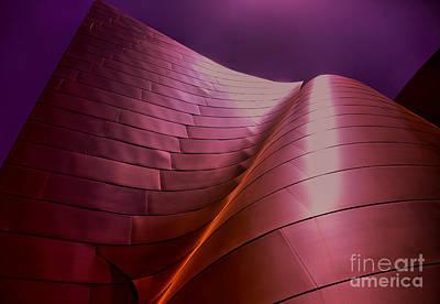 Disney Music Hall Photograph - Disney Hall Colors by Chuck Kuhn