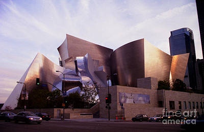 Disney Hall Western View Art Print by Ron Javorsky