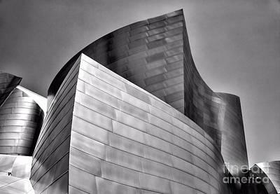 Disney Music Hall Photograph - Disney Music Hall Bw II by Chuck Kuhn
