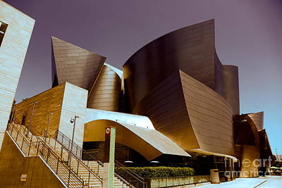 Disney Music Hall I Art Print by Chuck Kuhn