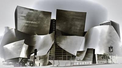 Disney Music Hall Photograph - Disney Music Hall X by Chuck Kuhn