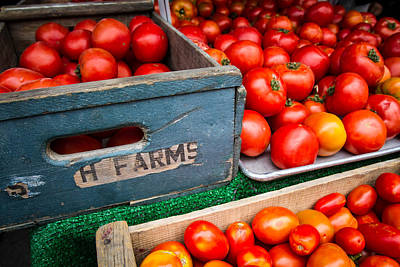 Photograph - Displayed Red Ripe Tomatoes by Dina Calvarese