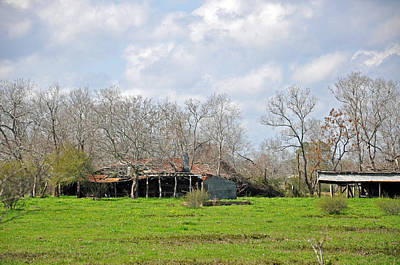 Photograph - Distant Barn by Teresa Blanton