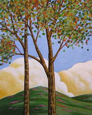 Tresses Painting - Distant Clouds by Amy Giacomelli