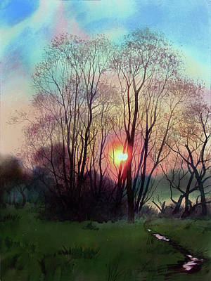 Painting - Distant Sunset by Sergey Zhiboedov