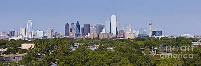 Distant View Of Downtown Dallas Art Print