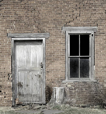Photograph - Distressed Facade by John Stephens