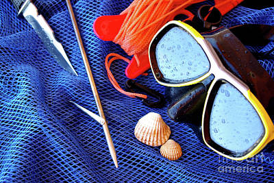 Boldness Photograph - Dive Gear by Carlos Caetano